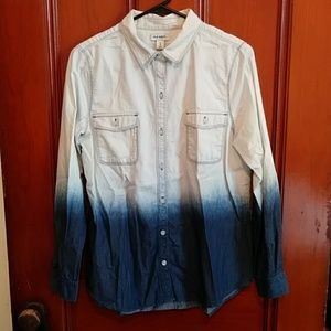 Old Navy Ombre Chambray Button-Down
